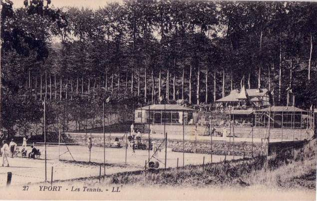 CPA SPORT/TENNIS/ Belle Carte Postale FRANCE YPORT Tennis Les Courts Animées TBE - Tennis