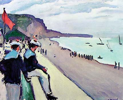 Beach at Fecamp by Albert Marquet